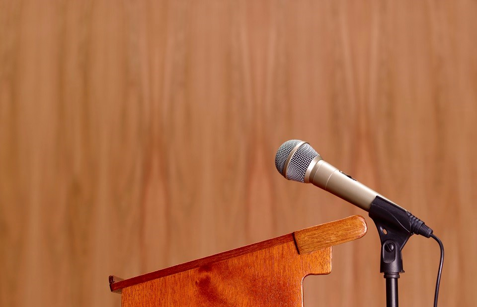 Microphone and podium - Getty Images