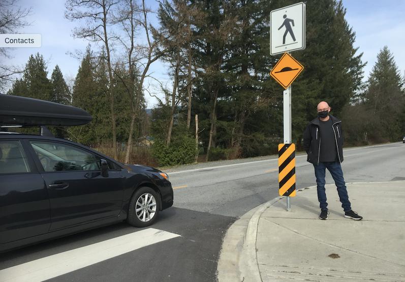Pinemont Avenue raised Crosswalk Port Coquitlam