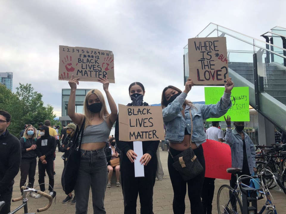 blm vancouver protest signs by elana