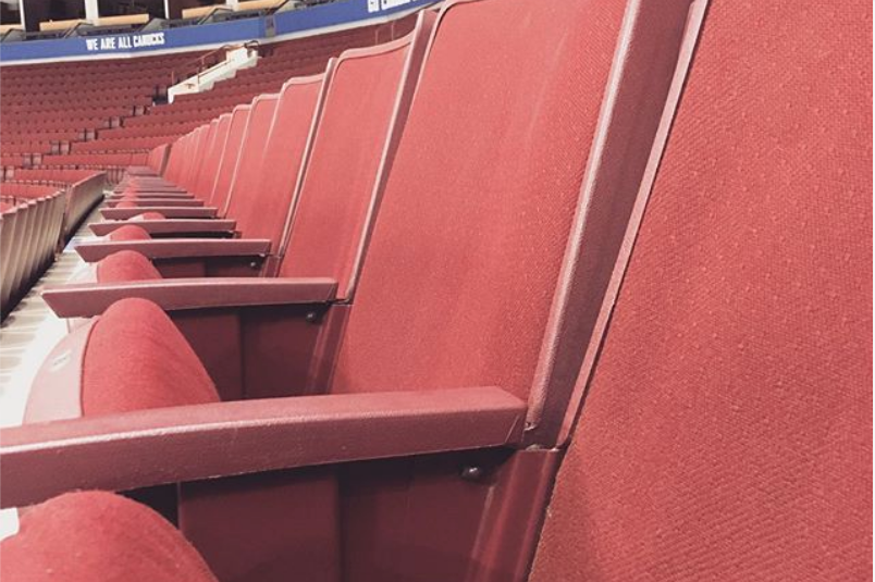 Empty seats at Rogers Arena