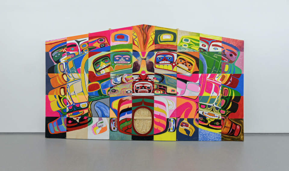 Luke Parnell art - Neon Reconciliation Explosion - Indigenous History in Colour - Vancouver Bill Reid Gallery
