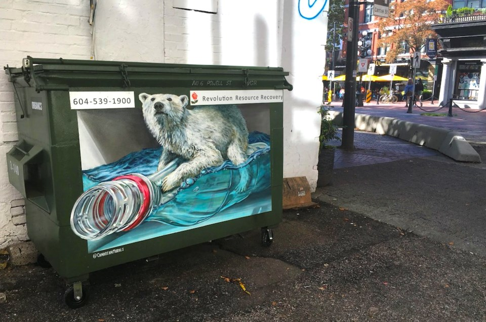 tyler toews vancouver garbage bin mural gastown polar bear