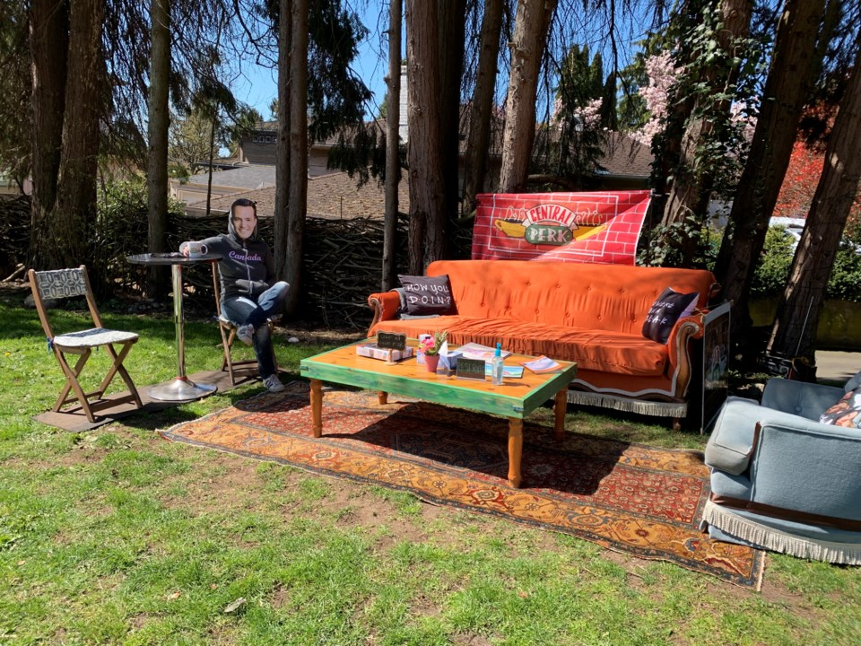 Vancouver Friends central perk display - marine drive and balaclava street - courtesy of anne bruinn
