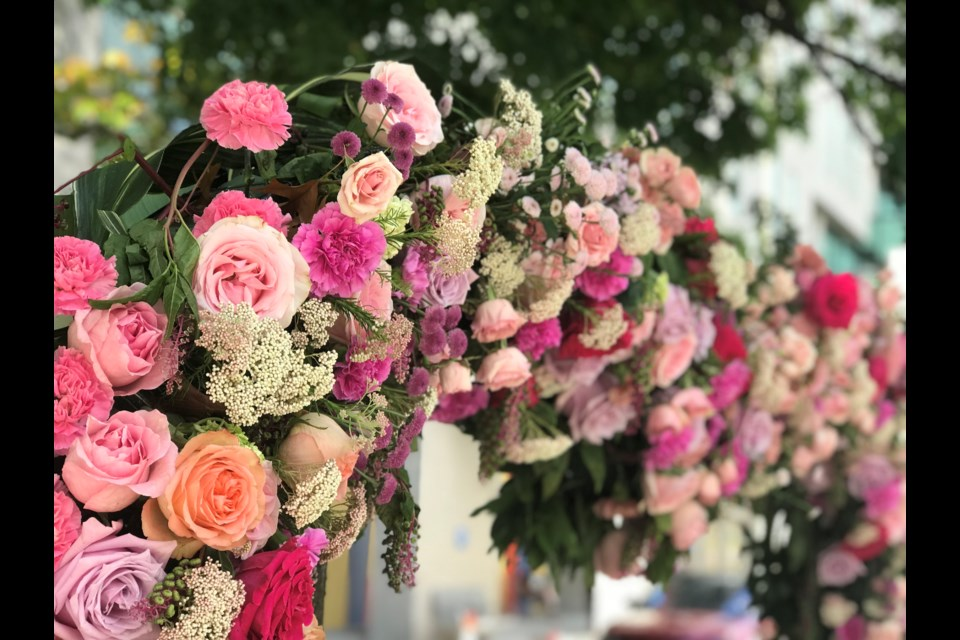 The VGH flower displays are located on the corner of 12th and Laurel and on Oak St. between 11th and 10th Ave.