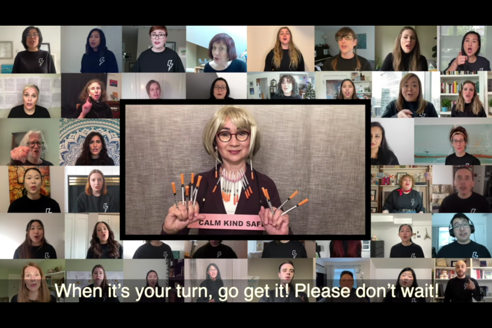 A Vancouver choral group has created a vaccine parody video in light of the coronavirus pandemic to urge everyone to get vaccinated.
