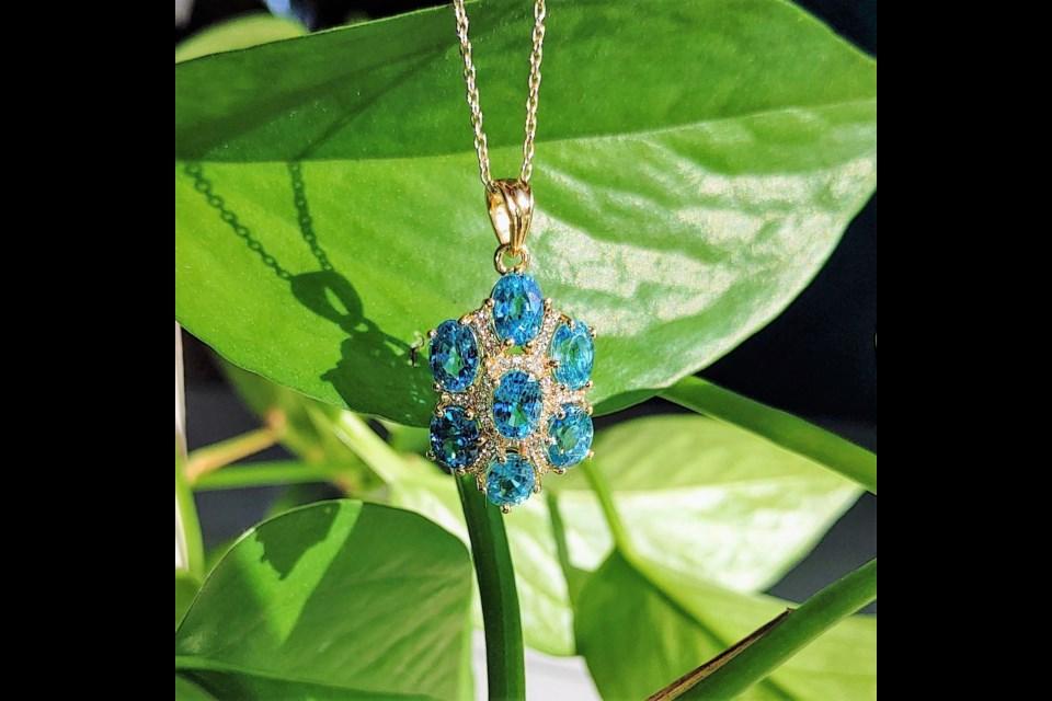 Blue Zircon, photo: Silver Street Jewellers