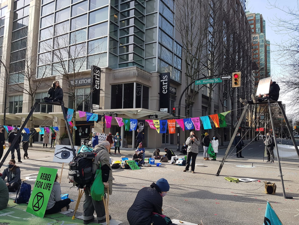Extinction Rebellion Vancouver. - Hornby Smith protest - saturday Feb 27 2021