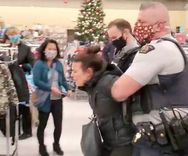 woman-arrest-anti-mask-value-village-kelowna-bc