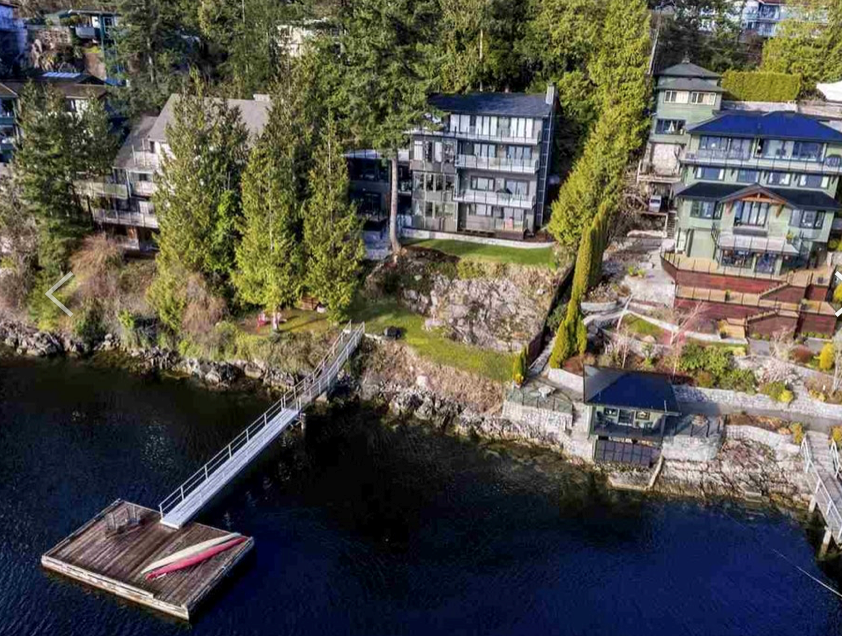 1938 Cardinal Crescent in North Vancouver, B.C. is a waterfront property currently listed for sale in Deep Cove. It comes with a private dock.