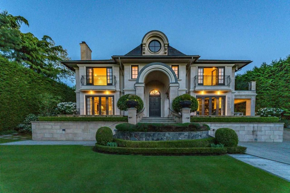 The home at 3488 Pine Crescent was done in French Chateau-style