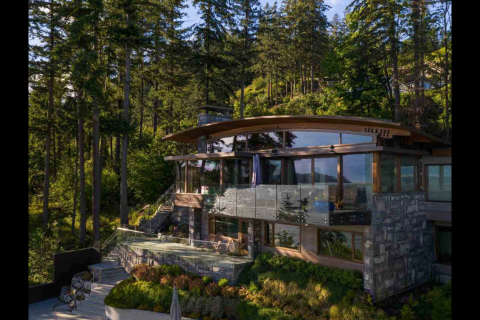This property— and its panoramic views — located at 3751 Sunset Lane in West Vancouver is currently on the market for $10.88 million.