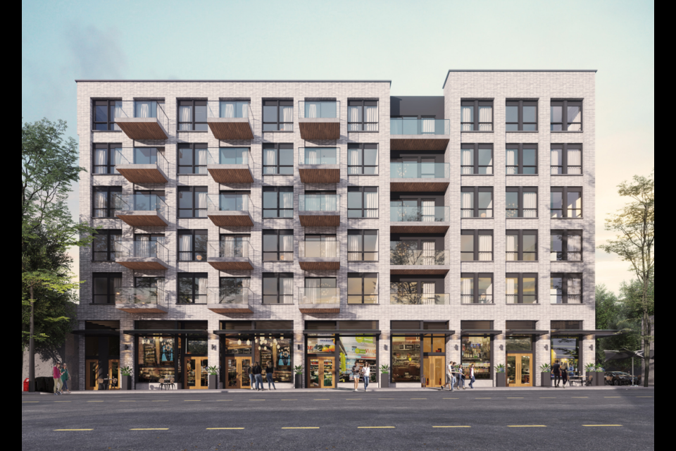 The proposed building would bring 60 rental units to the Little Mountain neighbourhood in Vancouver.