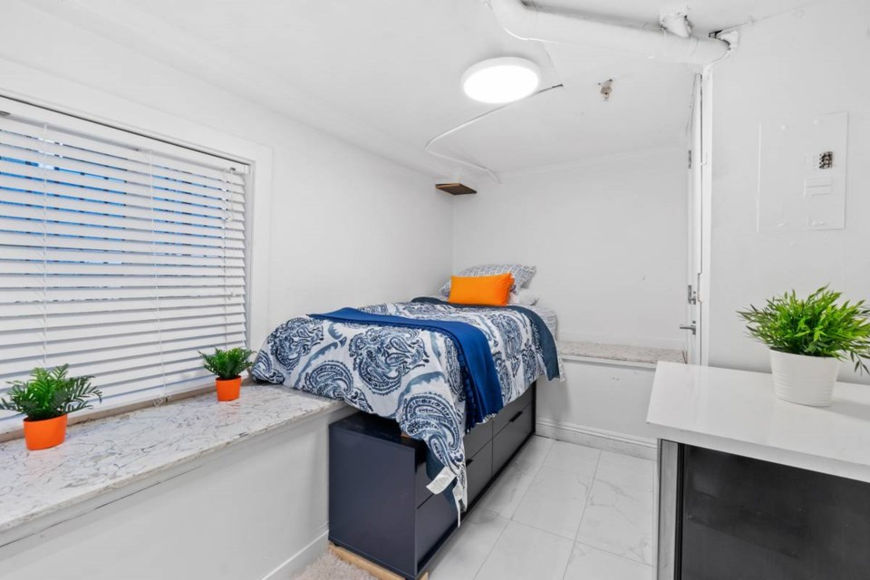 The zero bedrooms one bath living space was priced at  $680/month and is located on Barclay and Bute Streets.