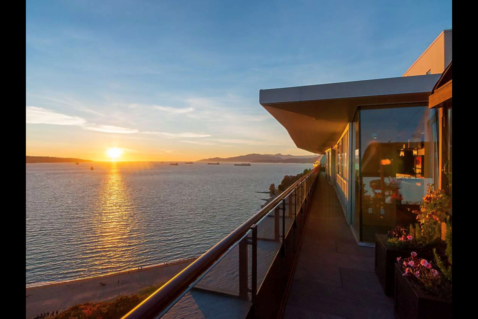We'd bet $7.95 million that this Morton Avenue penthouse overlooking English Bay is the best place to watch the sunset in Vancouver's West End.