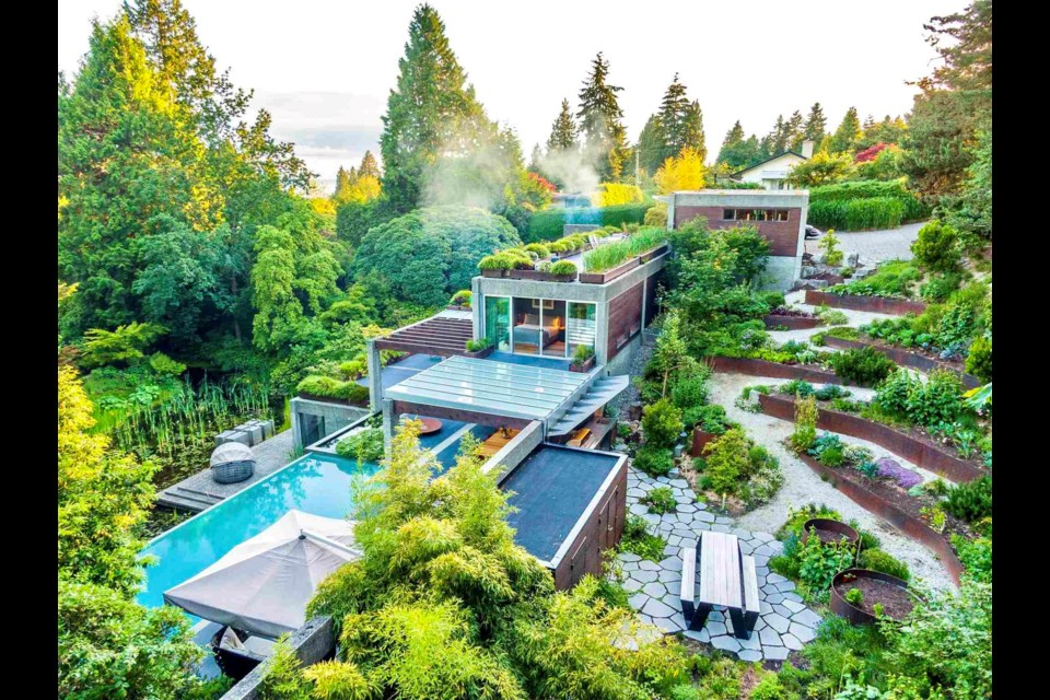 The Eppich House, built in 1979, was designed by renowned Vancouver-born architect Arthur Erickson.