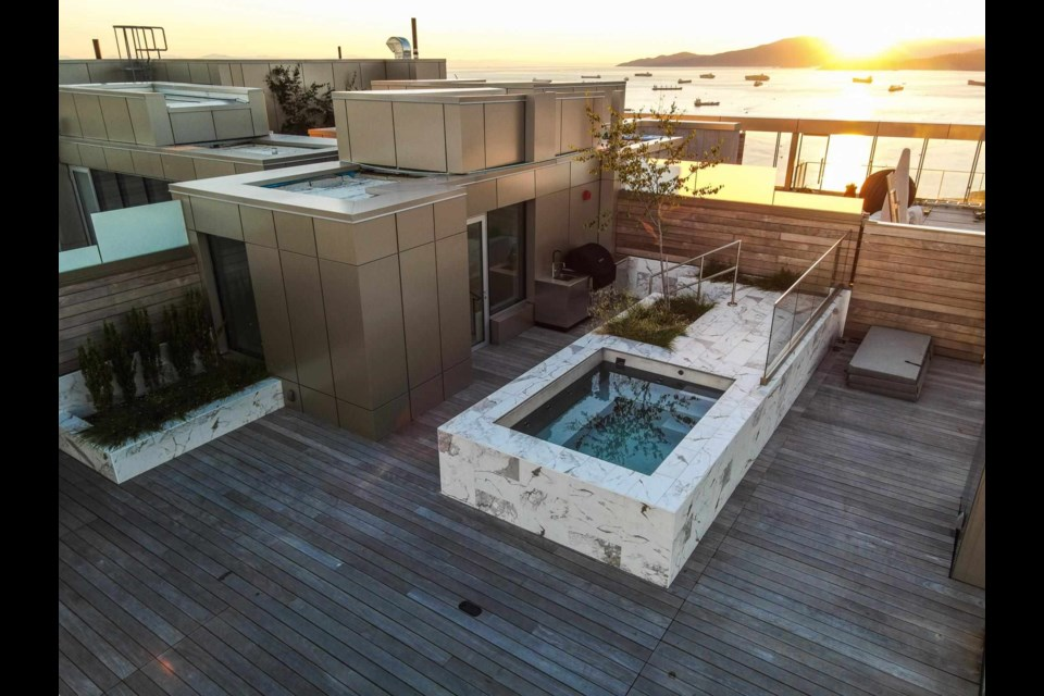 The penthouse sits atop Vancouver House.