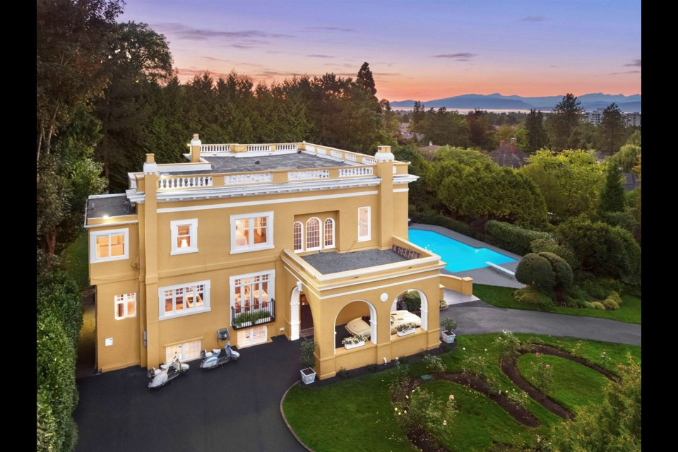 It looks like a resort in Europe, but it's a home in Vancouver.