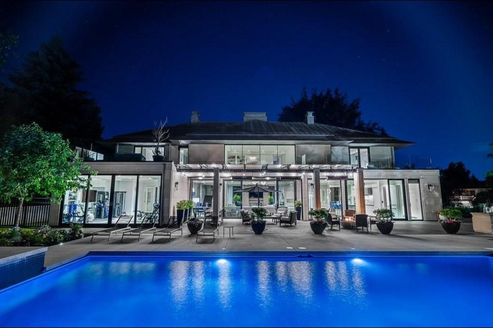 Along with a spectacular interior, the $33 million house at 1318 Minto Crescent has a half-a-basketball court and a golf 'cave.'