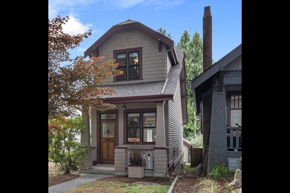 This skinny house has an interior less than 16 feet wide. The home is located near Vancouver's Commercial drive.