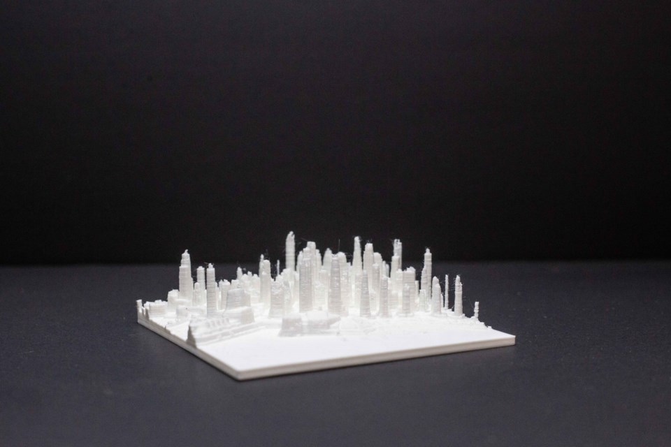 Daniel Ryan created a 3D printed version of downtown Vancouver using data collected by the city in 2013.