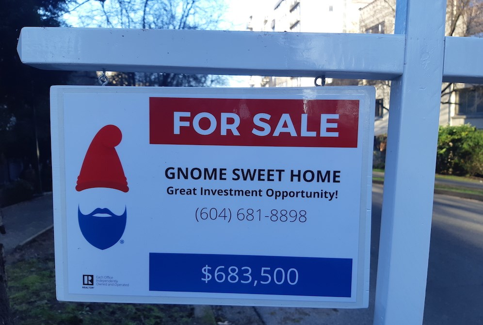 This Vancouver 'gnome home' is trolling a local real estate company (VIDEO)