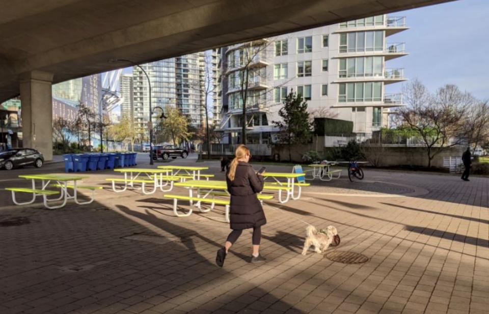 city of vancouver rain friendly pop up plaza