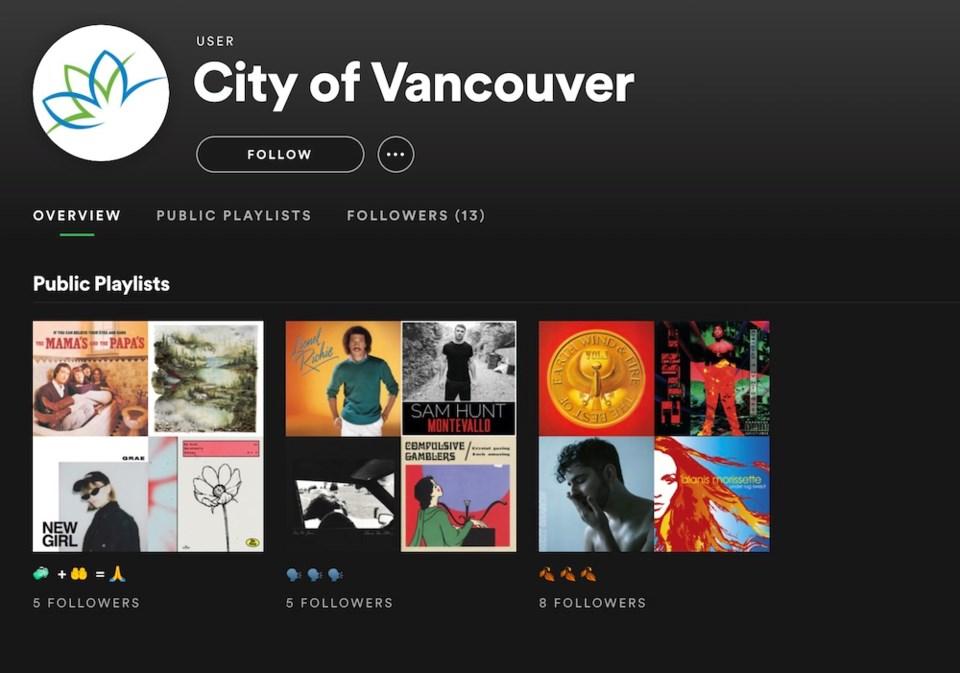 city of vancouver spotify playlists covid-19