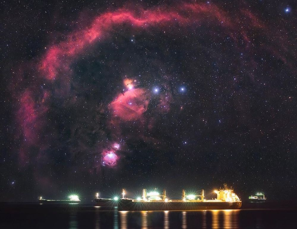 Vancouver photographer shares spellbinding snap of Orion Complex over English Bay (PHOTOS)