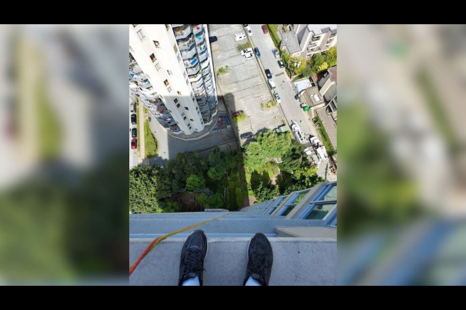 A Vancouver window cleaner shares stunning snaps taken outside of high-rise buildings downtown.
