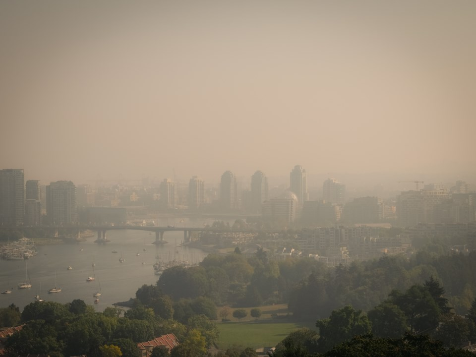 Wildfire smoke in Vancouver