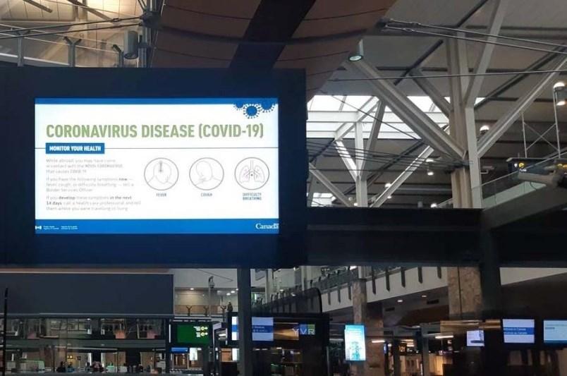 Coronavirus: 'China' removed from warning signs at YVR