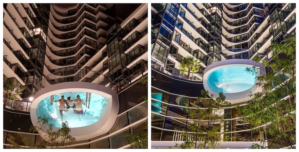 This epic swimming pool soars outside of a Vancouver building (PHOTOS)
