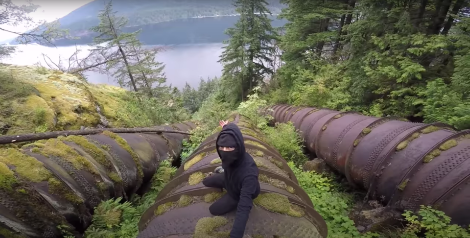 BC Hydro dam climber