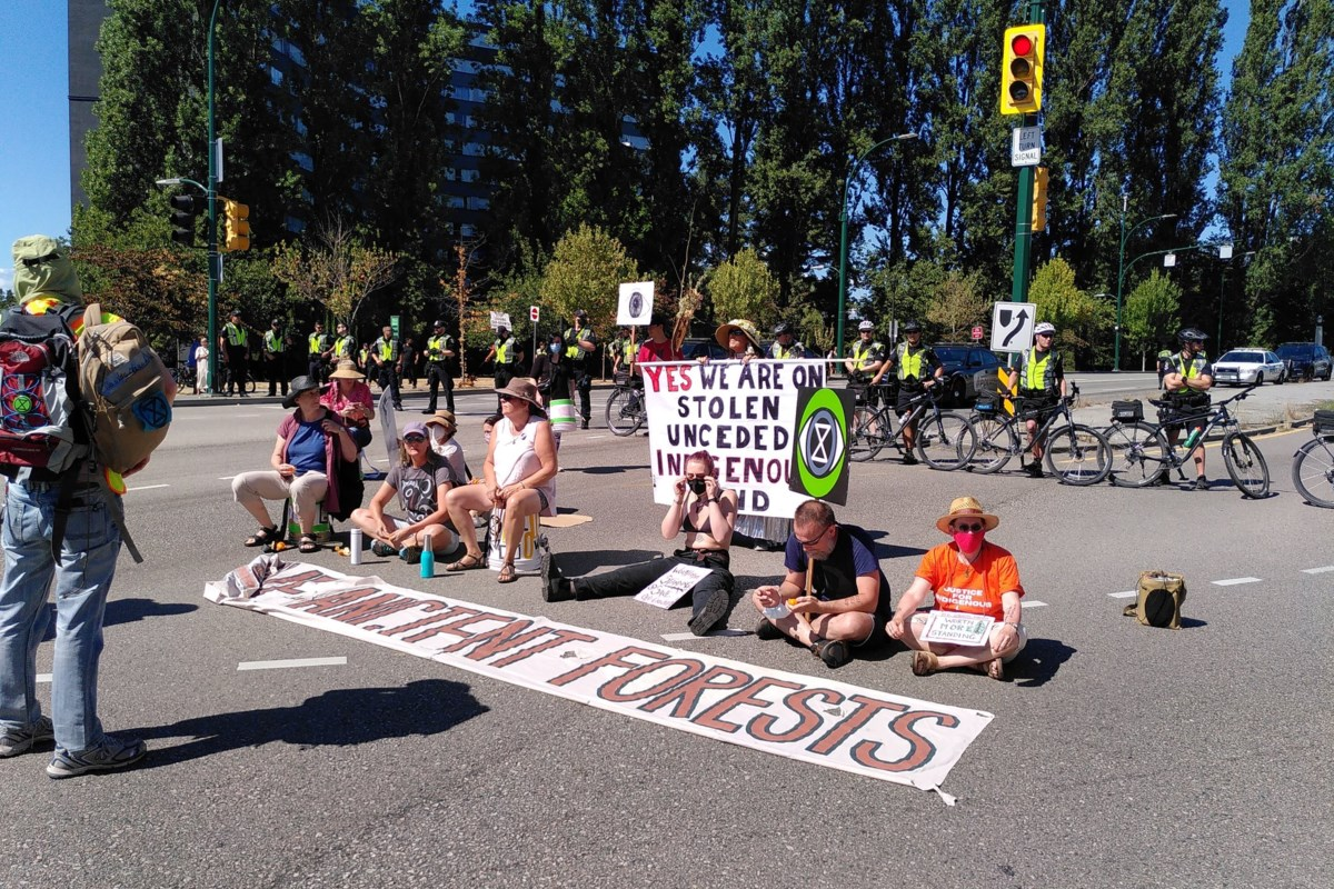 Protest at Burrard Street Bridge declared over, traffic open in all directions