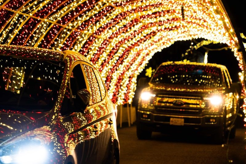 Residents of the Lower Mainland can journey into an illuminated winter wonderful complete with a million sparkling lights atGlow Gardens.