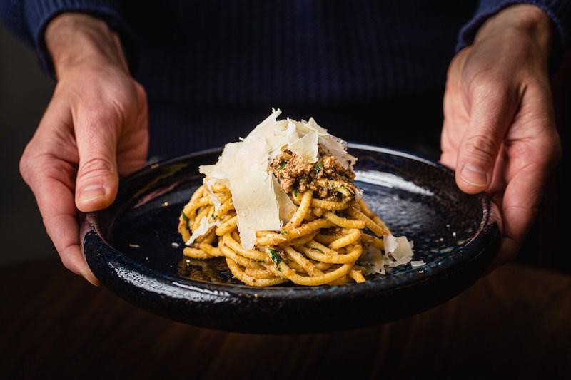 Bigoli con Anatra from the pasta menu at Giovane Bacaro