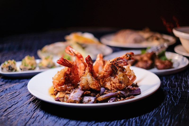 Bamboo Grove - Tiger Prawns with Eggplants