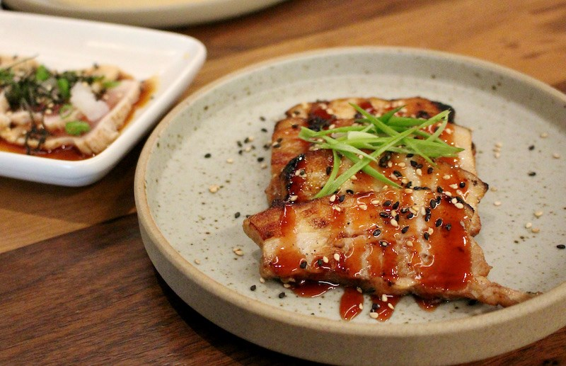 Pork Chashu and tuna tataki on the updated menu at Hachiro, which recently marked two years in North Vancouver - and some big recent changes