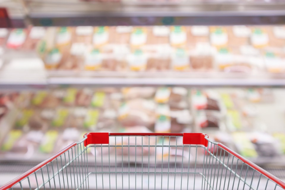 grocery-cart-meat-section-shutterstock