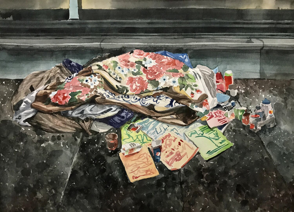'Hastings & Pain': Artist shares striking paintings of Vancouver's Downtown Eastide