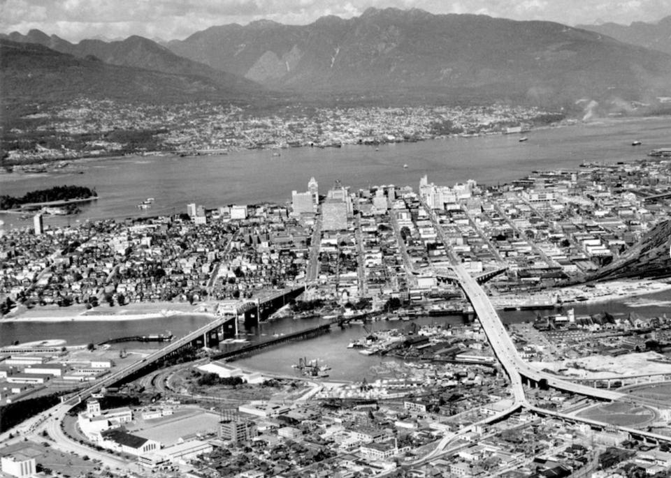 Overhead view Vancouver 1957 - reddit