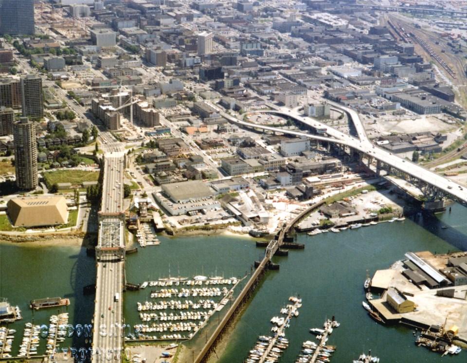 Vintage Aerial view False Creek