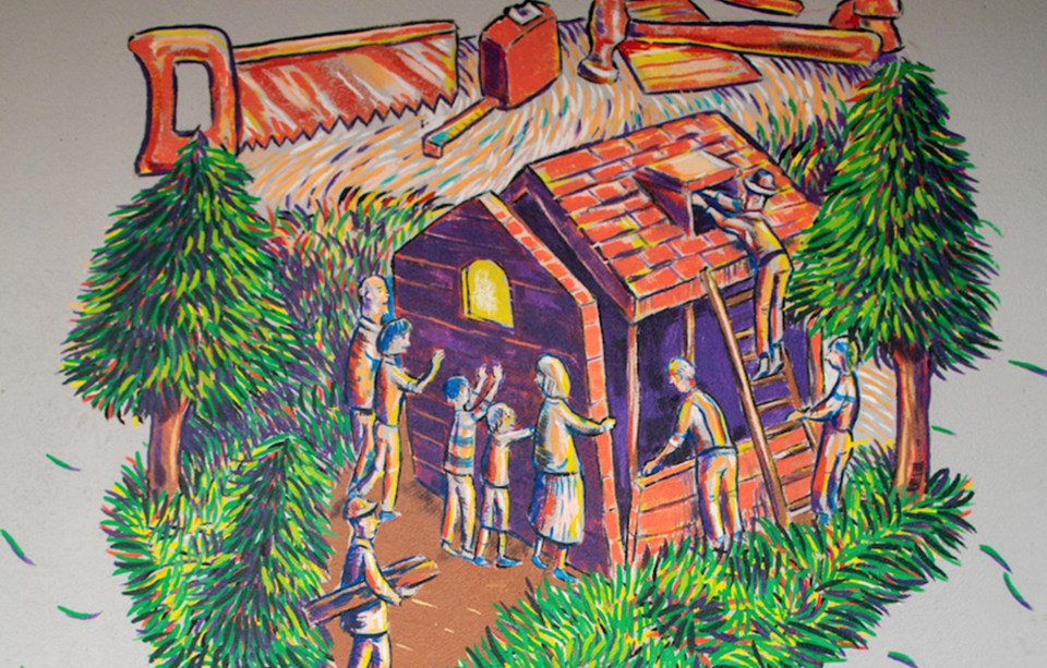homeless mural
