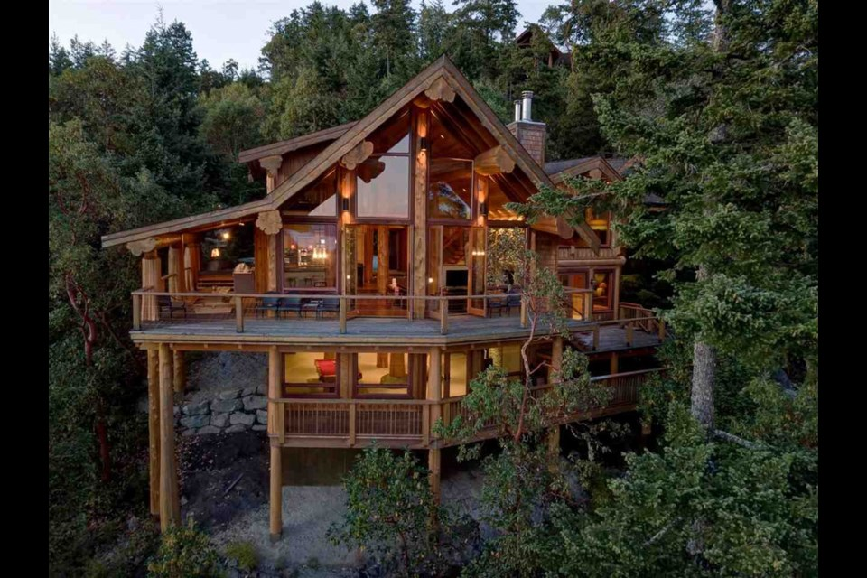 The unique property, priced at $2,950,000, can be found at 14149 Mixal Heights Road, Pender Harbour Egmont. Photo: REW