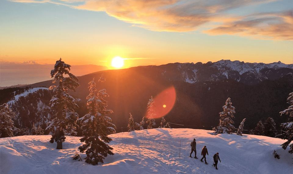 Mount-Seymour-to-Brockton-Point-Winter-Route-sunset