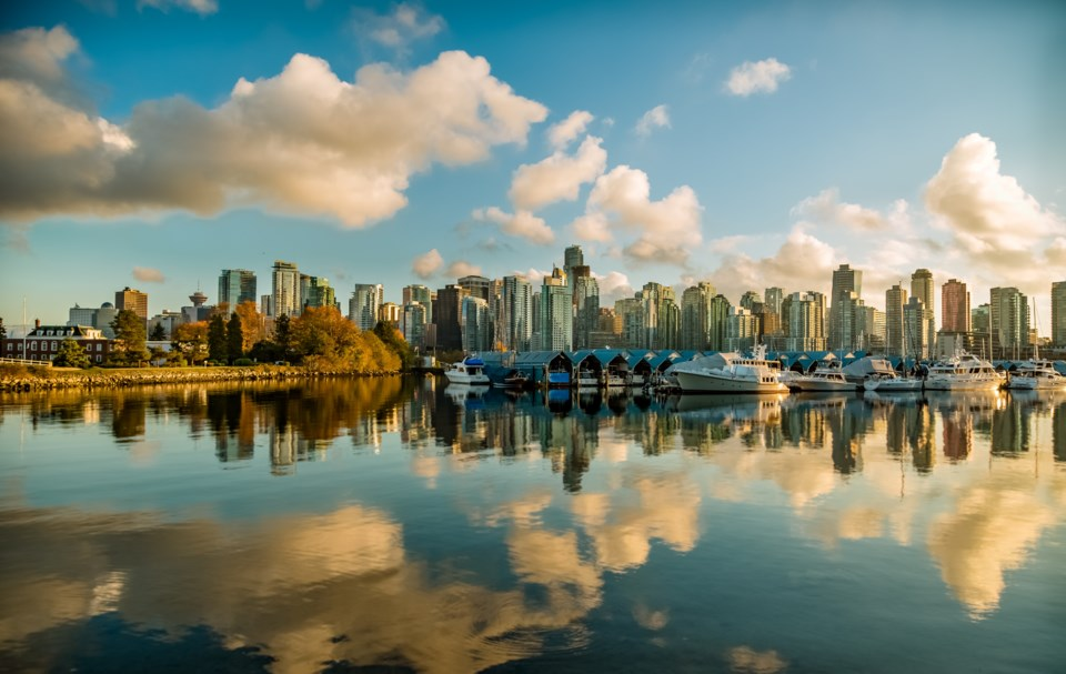 vancouver at daybreak