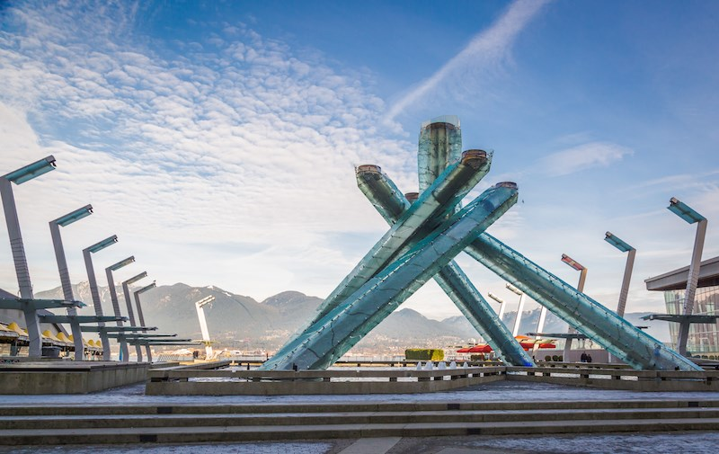 Vancouver's Olympic Cauldron at Jack Poole Plaza/Shutterstock