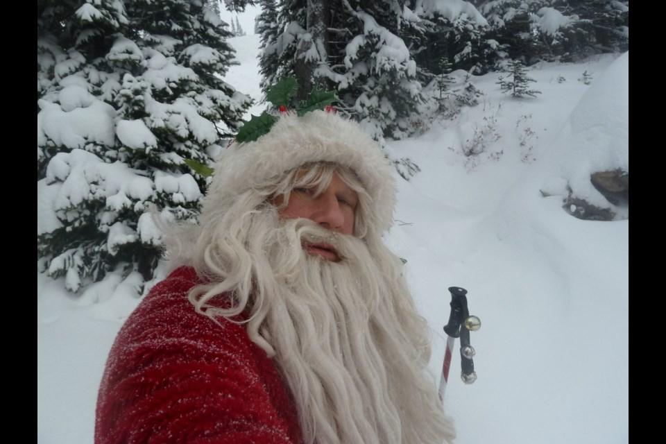 Tilman von der Linde also dresses up as Santa Clause to entertain skiers around Christmastime.