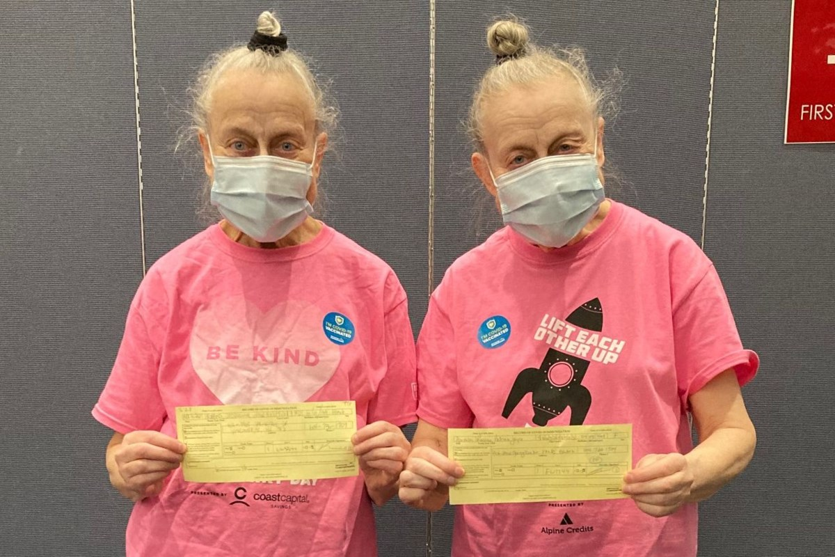 Acting duo from 'A Series of Unfortunate Events' receives COVID-19 vaccine in Vancouver