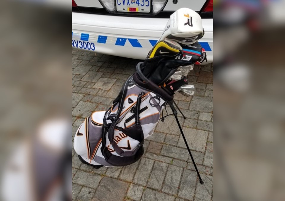 north vancouver principal finds golf clubs